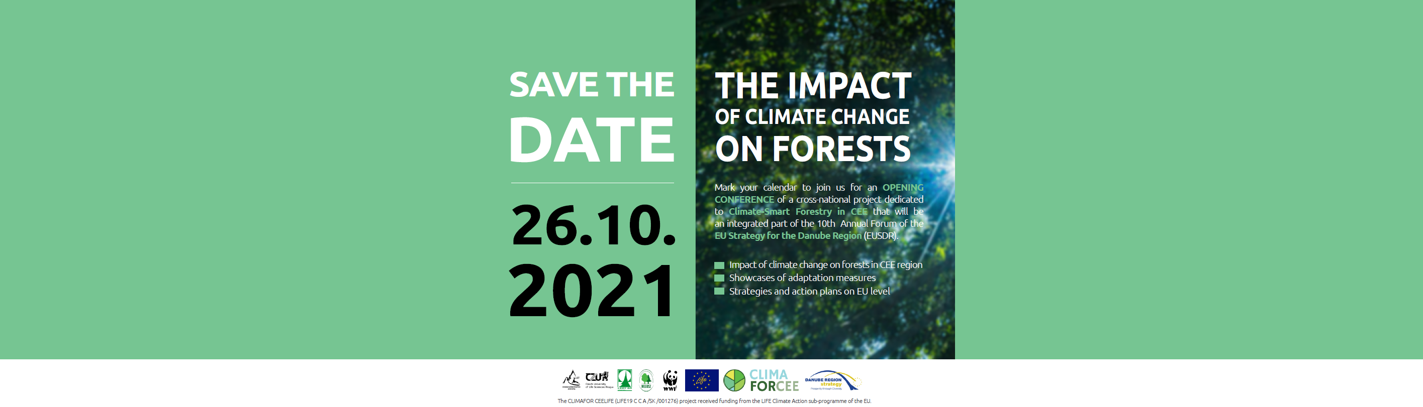 The Impact of Climate Change on Forests Conference – Save the Date